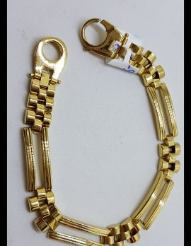 18ct Yellow Gold Wide and Heavy Link Bracelet - Ladies / Gents