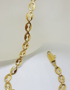 18ct Yellow Gold Oval Link Bracelet
