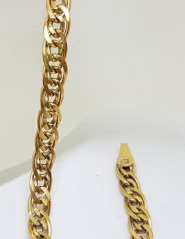 9ct Yellow Gold Double Flat Curb Link Bracelet