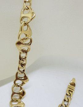 9ct Yellow Gold Heart Link Bracelet