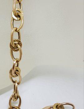 9ct Yellow Gold Unusual Circular Link Bracelet