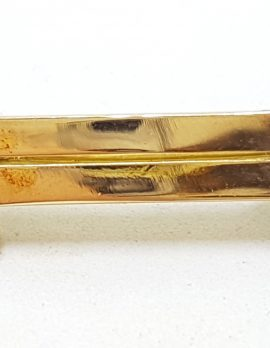 9ct Yellow Gold Seedpearl Bar Brooch - Antique / Vintage