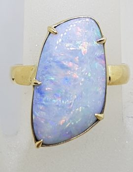 9ct Yellow Gold Blue and Multi-Colour Opal Ring