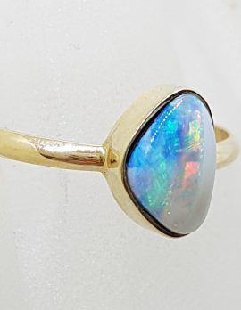 9ct Yellow Gold Multi-Colour Opal Ring