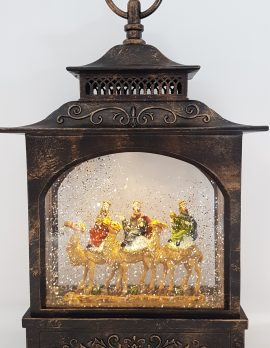Christmas Glitter Lantern – Three Wise Men – Christmas Ornament Design #7