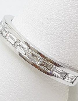 18ct White Gold Baguette Diamond Eternity / Wedding Band / Ring