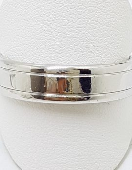10ct White Gold Wedding Band Ring - Ladies / Gents