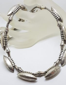 Sterling Silver Chunky and Unusual Necklace / Chain