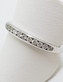 18ct White Gold Diamond Channel Set Eternity / Wedding Band Ring