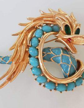 Vintage Costume Jewellery Large Dragon Brooch - Boucher France