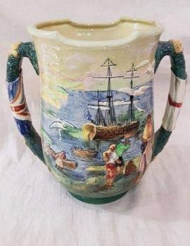 Royal Doulton Captain Cook Loving Cup with Original Paperwork. Limited Edition Number 223 of 350 Dated 1933