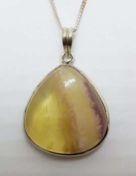Sterling Silver Large Gemstone Pendant on Silver Chain