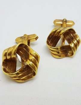 Vintage Costume Gold Plated Cufflinks - Round