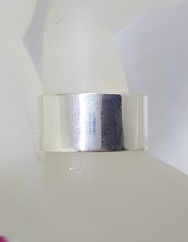 Sterling Silver Wide Solid / Heavy Band Ring - Gents / Ladies
