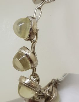 Sterling Silver Citrine Drops Bracelet
