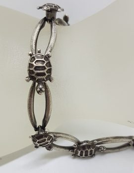 Sterling Silver Turtle Design Bracelet