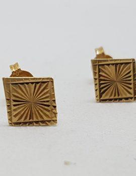 Patterned Stud Earrings - Vintage