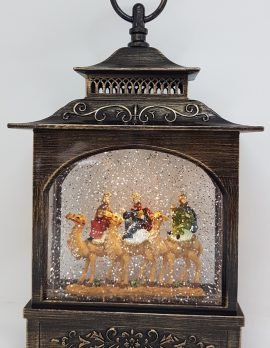 Musical Christmas Glitter Lantern – Three Wise Men – Christmas Ornament Design #23