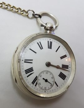 Sterling Silver Fob Watch / Pocket Watch - Vintage