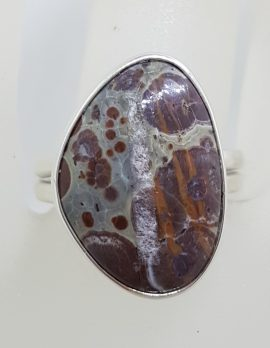 Sterling Silver Large Jasper Ring