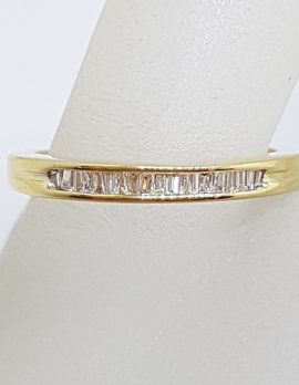 18ct Yellow Gold Diamond Channel Set Wedding / Eternity / Stackable Ring
