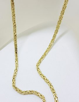 9ct Yellow Gold Thick Unusual Link Necklace / Chain