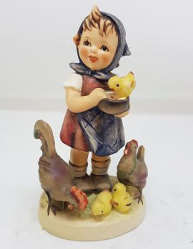 Vintage German Hummel Figurine - Feeding Time