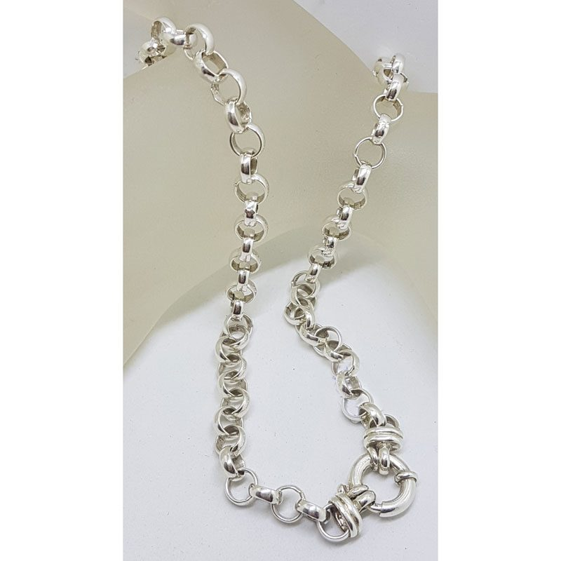 Sterling Silver Belcher Chain / Necklace with Bolt Clasp