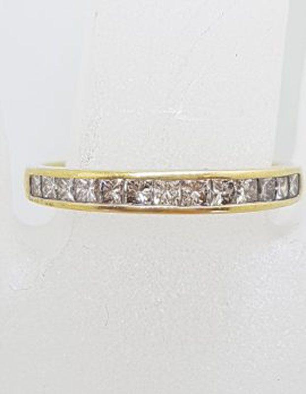 9ct Yellow Gold Channel Set Diamond Eternity Ring / Wedding Band
