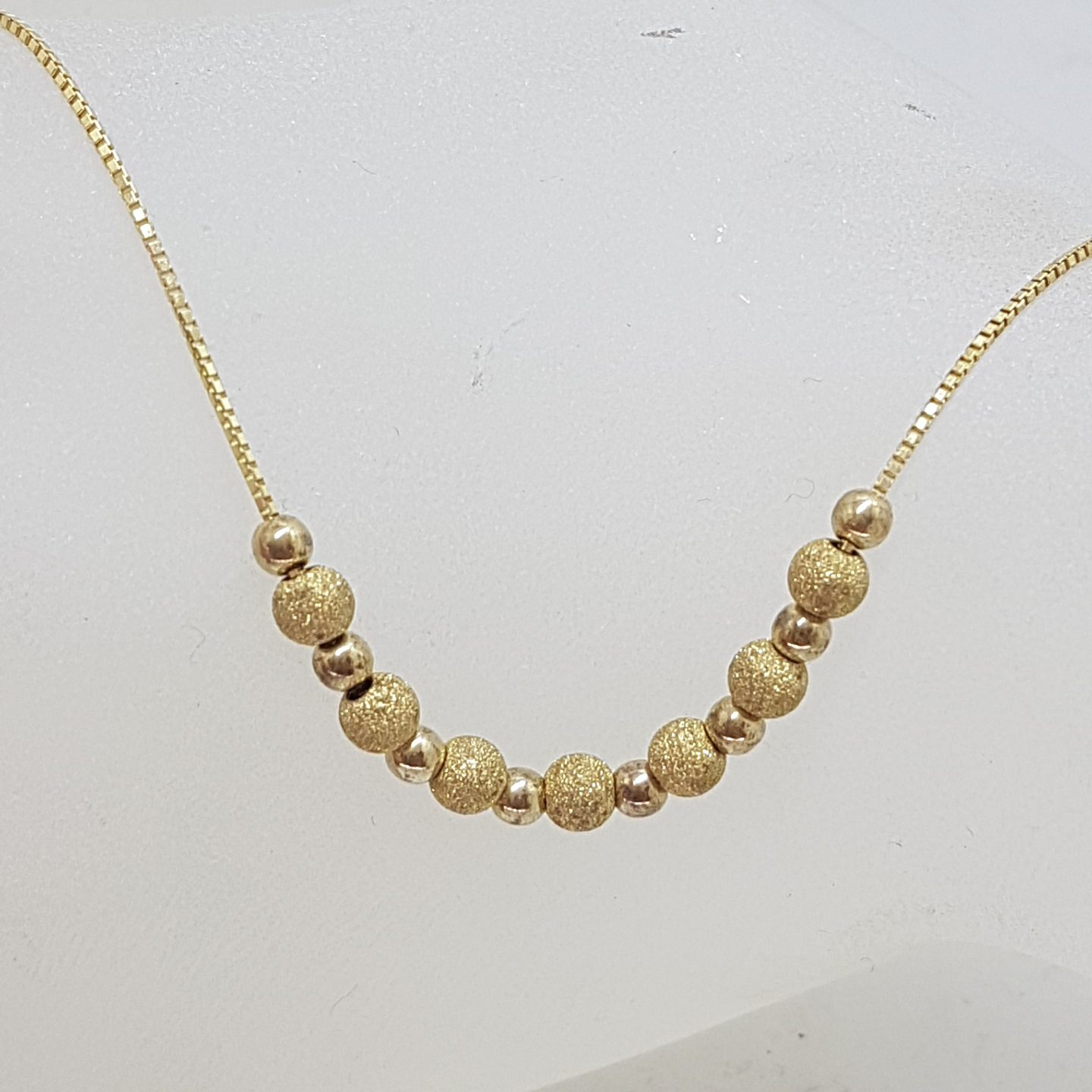 9ct Yellow Gold Ball Design Necklace / Chain